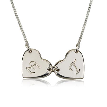 Collier de Cœurs Reliés avec Initiales