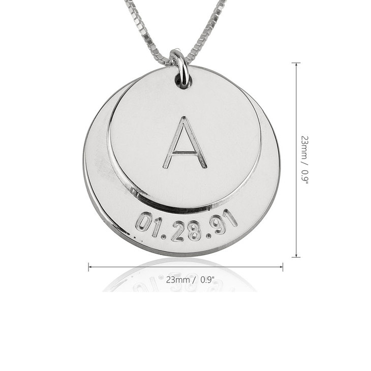 Engraved Initial & Date Necklace - Information
