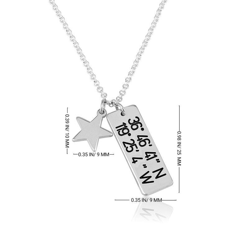 Vertical Coordinates Necklace - Information