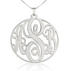 Circle Monogram Necklace - Thumb