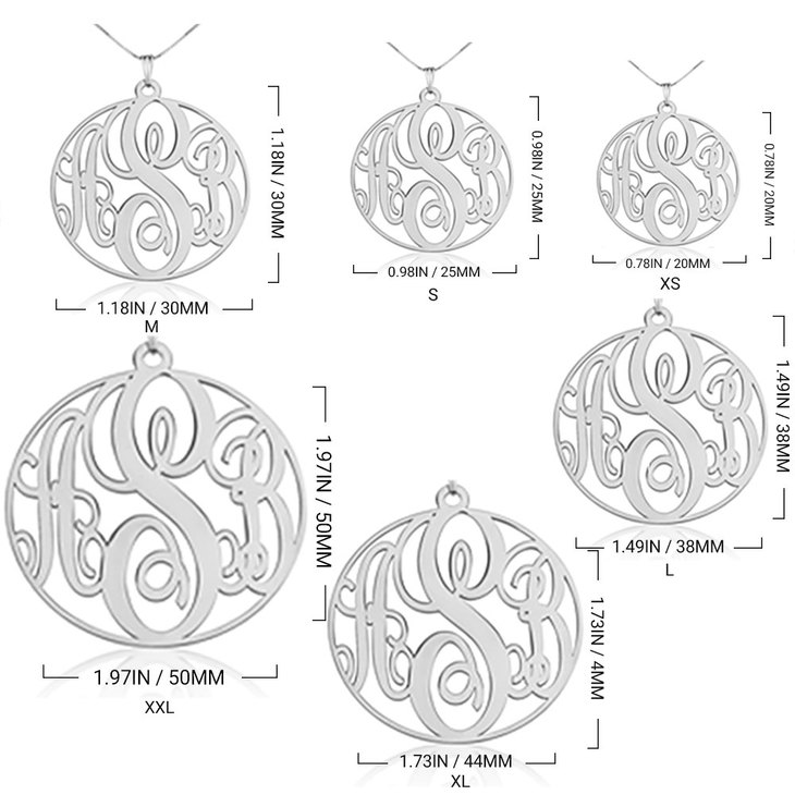 Circle Monogram Necklace - Information
