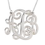 Split Chain Monogram Necklace - Thumb