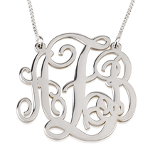 Split Chain Monogram Necklace