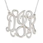 Monogram Initial Necklace - Thumb