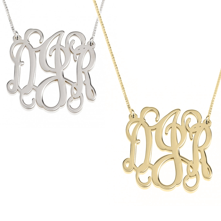 Collier Monogramme Ondulé Trait d'Union