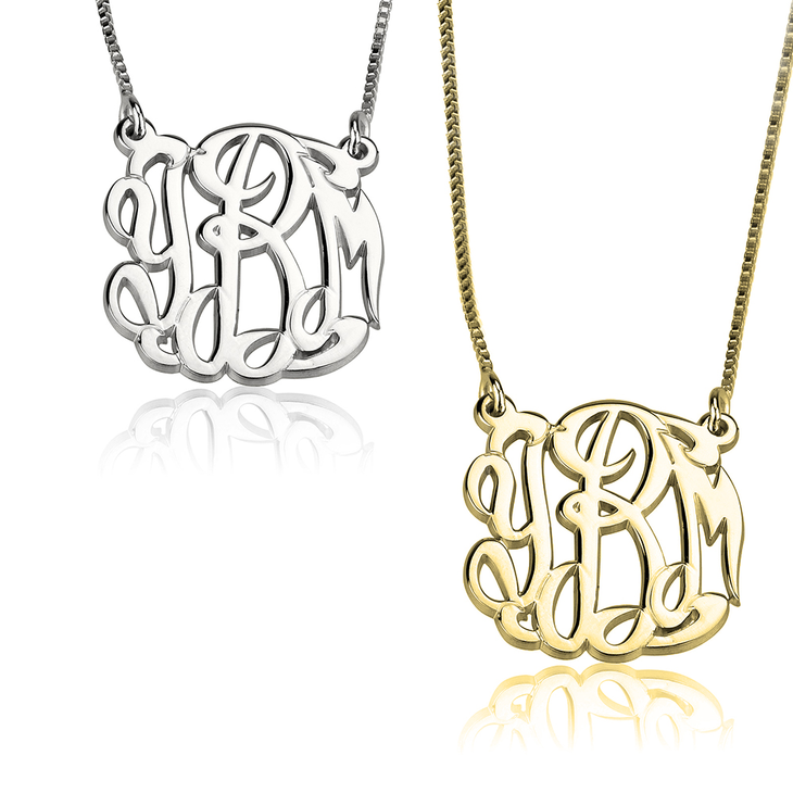 Celebrity Monogram Necklace