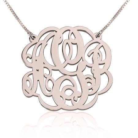 Twisted Split Chain Monogram Necklace