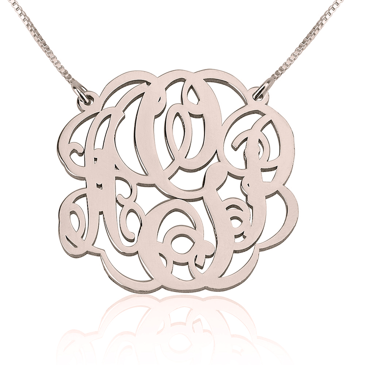 7ab29595dd Twisted Split Chain Monogram Necklace
