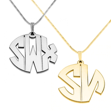 Block Letters Monogram Necklacec