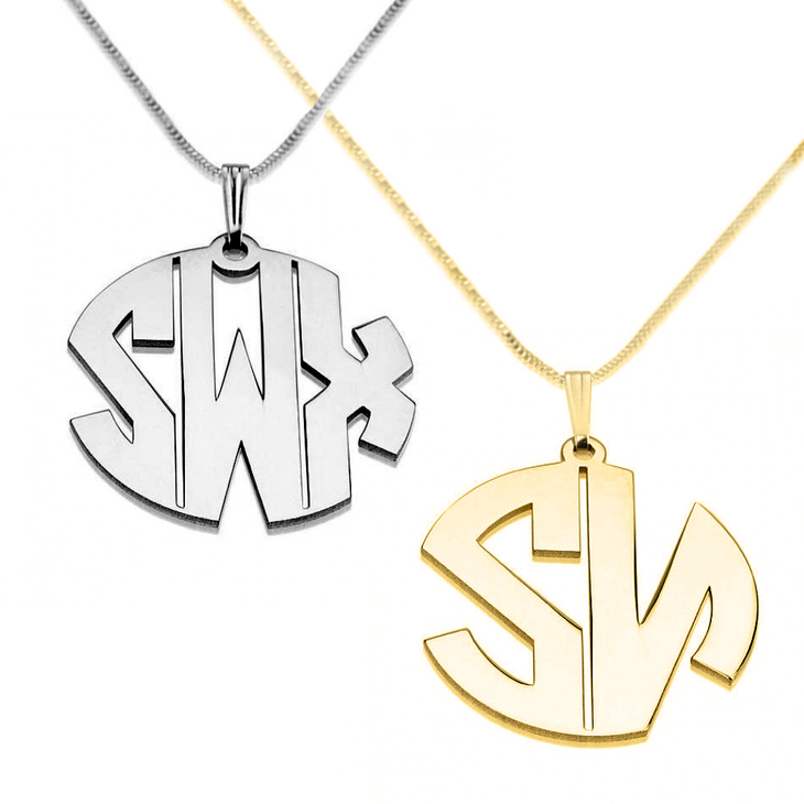 Collier Monogramme Lettres Capitales