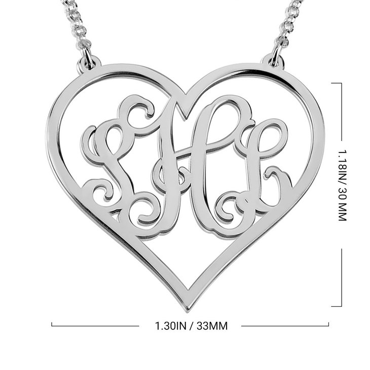 Monogram Heart Necklace - Information