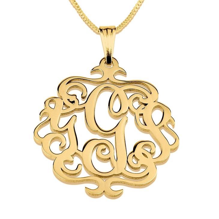 Antique Monogram Necklace