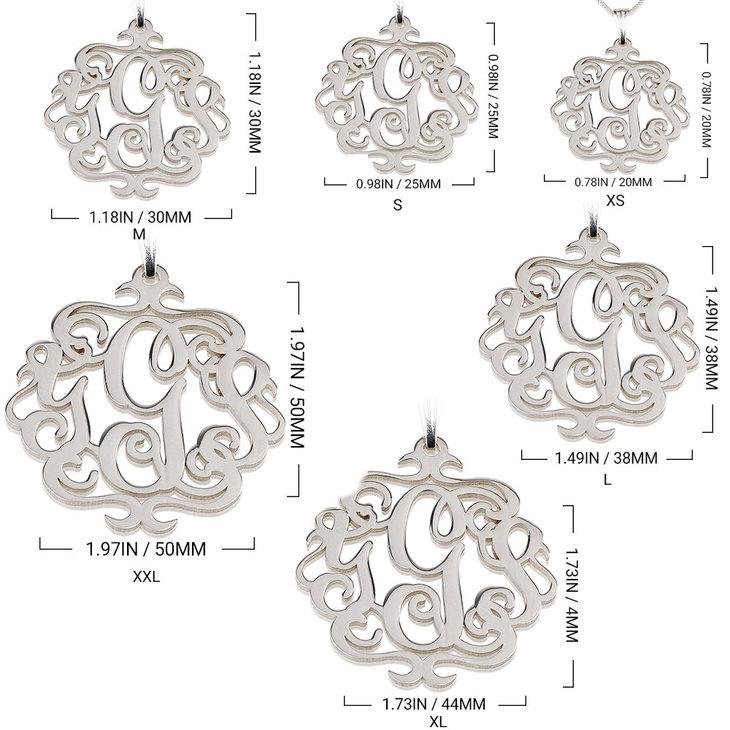 Antique Monogram Necklace - Information