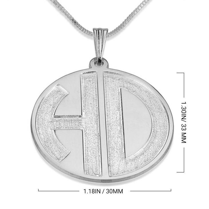 Sparkling 2 Letters Monogram Necklace - Information