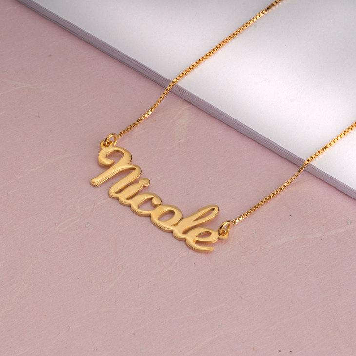 Cursive Name Necklace - Model