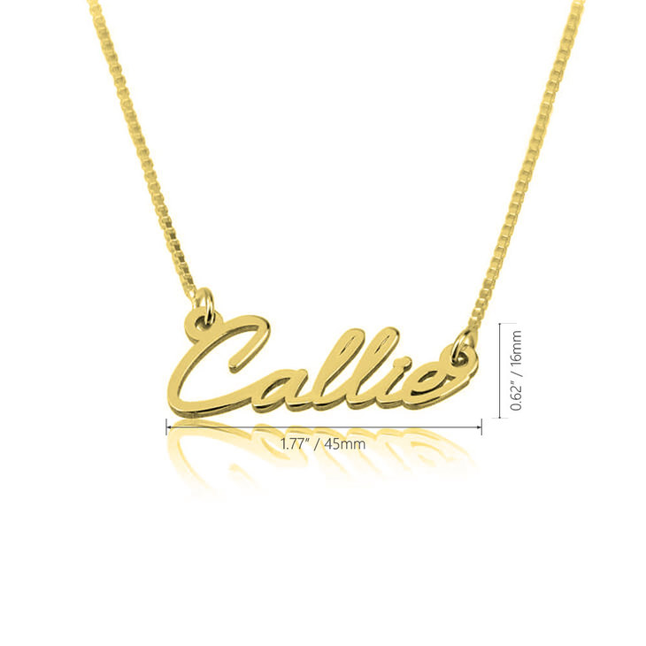 Dainty Name Necklace - Information