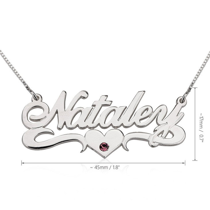 Birthstone Name Necklace - Information