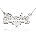 Name Necklace With Heart - Thumb