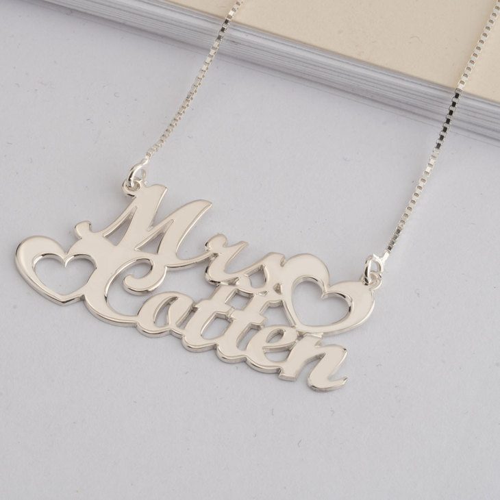 Two Name Necklace - Model