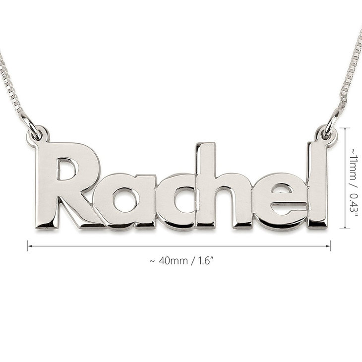 Bold Name Necklace - Information