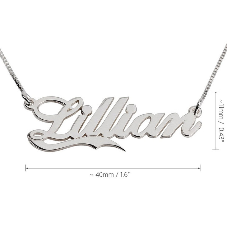 Fancy Name Necklace with Underline - Information