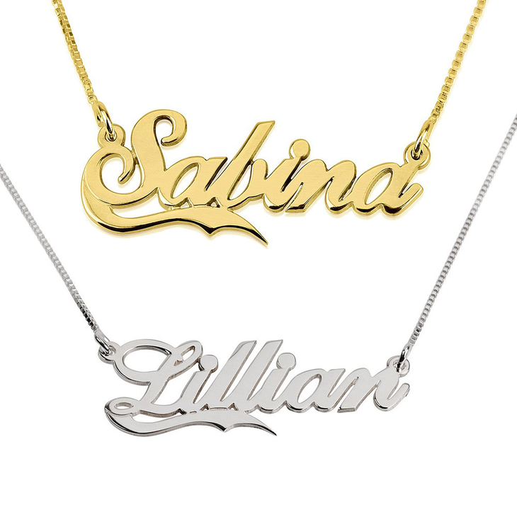 Name Necklace With Fancy Underline