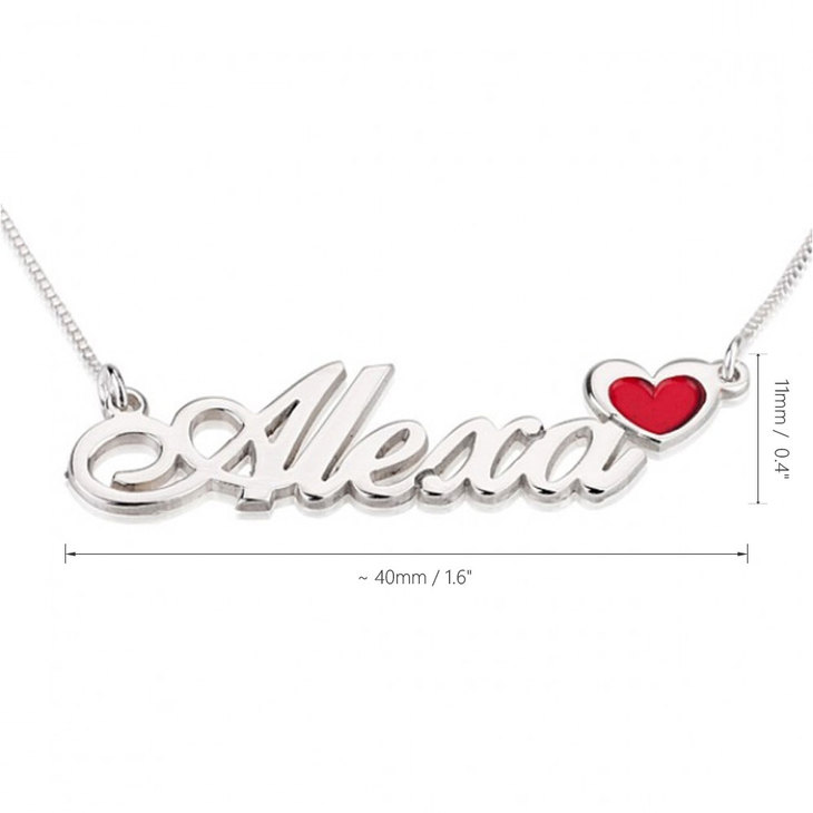 Name Necklace with Coloured Symbols - Information