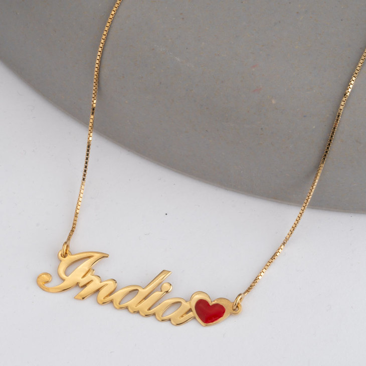 Name Necklace with Coloured Symbols - Model