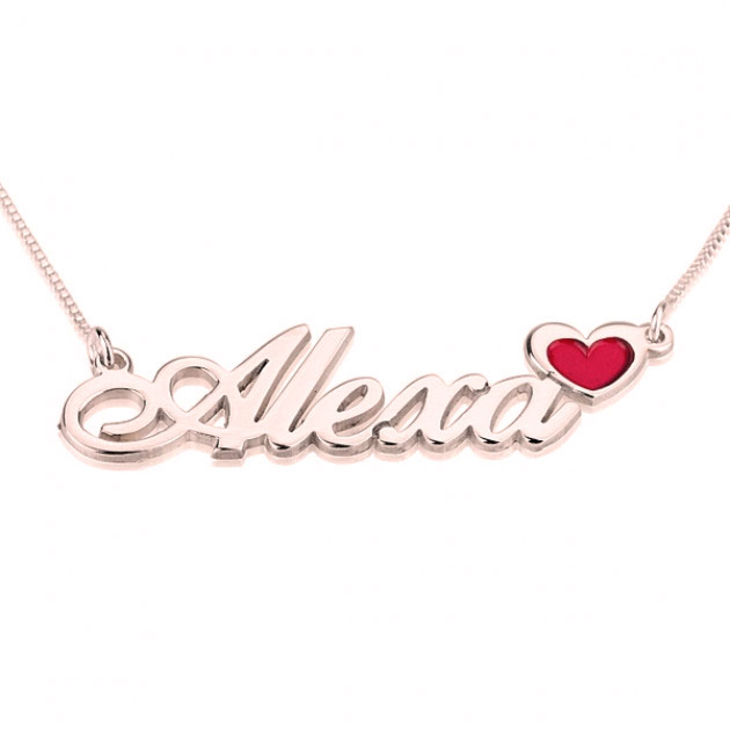 Name Necklace with Colored Symbols