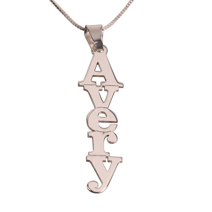 Vertical Name Necklace