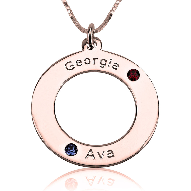 Family Birthstone Necklace - Picture 2