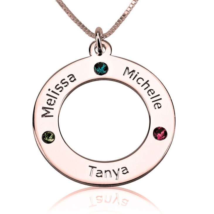 Family Birthstone Necklace - Picture 3
