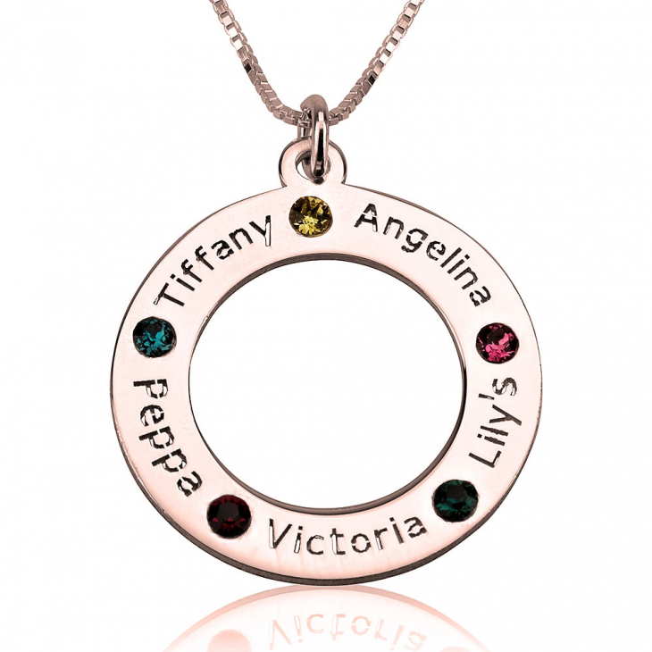 Family Birthstone Necklace - Picture 5