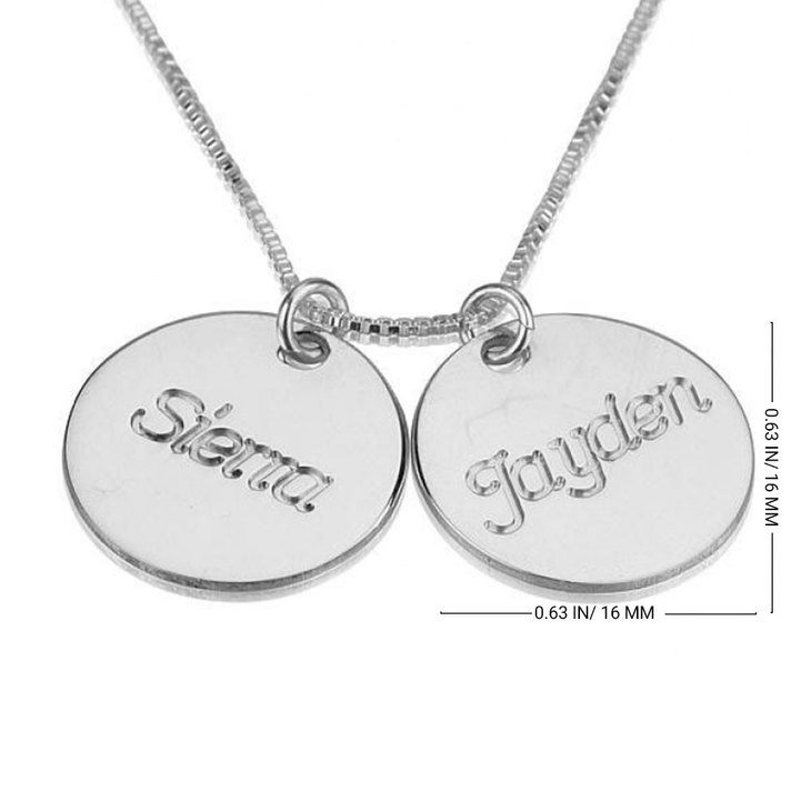 Engraved Necklace with Two Names - Information