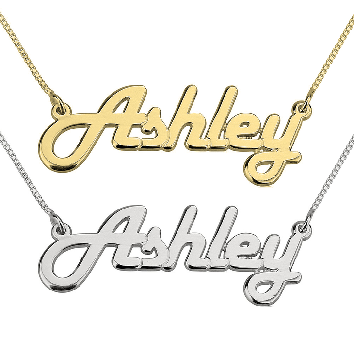 Retro Name Necklace