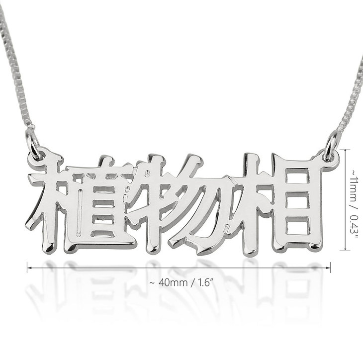 Chinese Name Necklace - Information