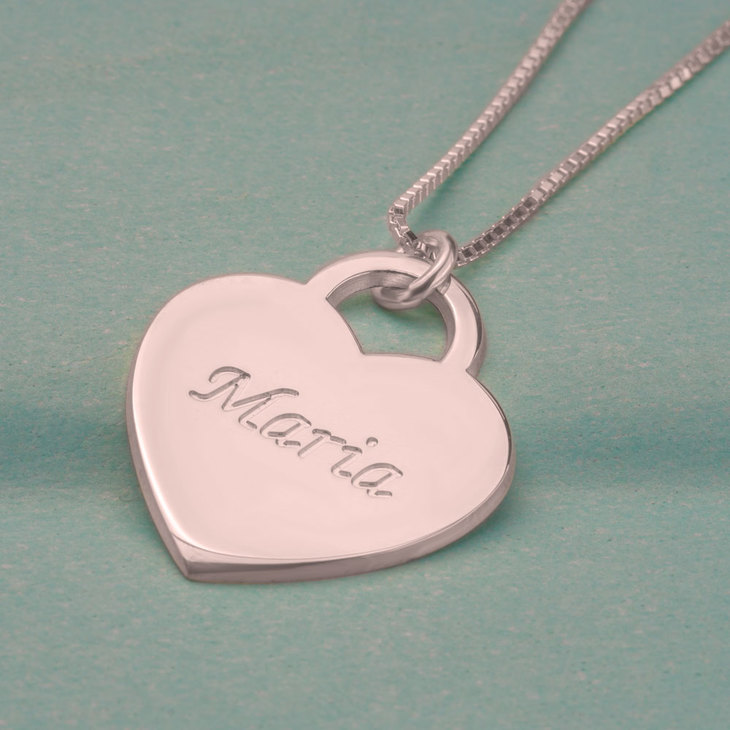 Heart Pendant with Name - Picture 2
