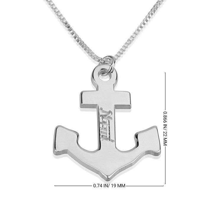 Personalized Anchor Necklace - Information