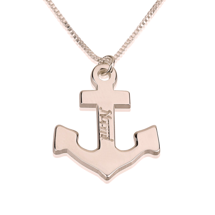 Personalized Anchor Necklace