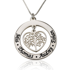 Personalised Family Tree Necklace - Thumb