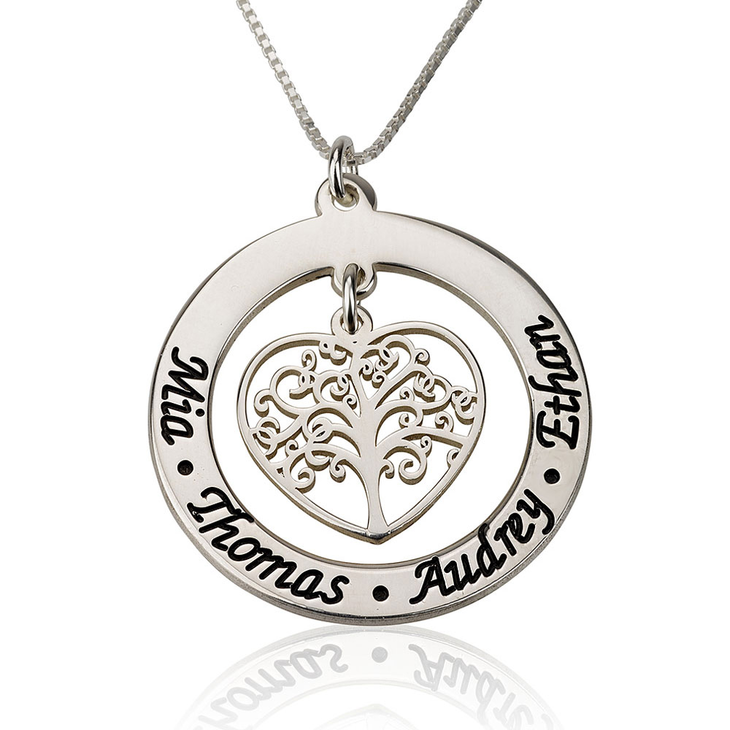 products jewelry personalized washer custom grandmawebborder tree larger large name silver necklace of family sterling grandma life