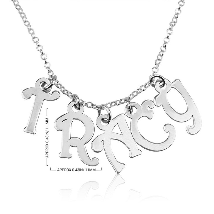 Name Charm Necklace - Information