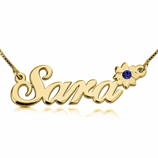 Swarovski Flower Name Necklace