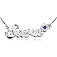 Swarovski Flower Name Necklace