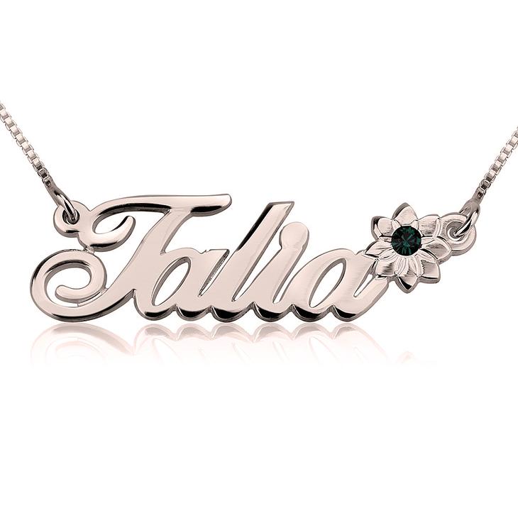 Swarovski Flower Name Necklace - Picture 2