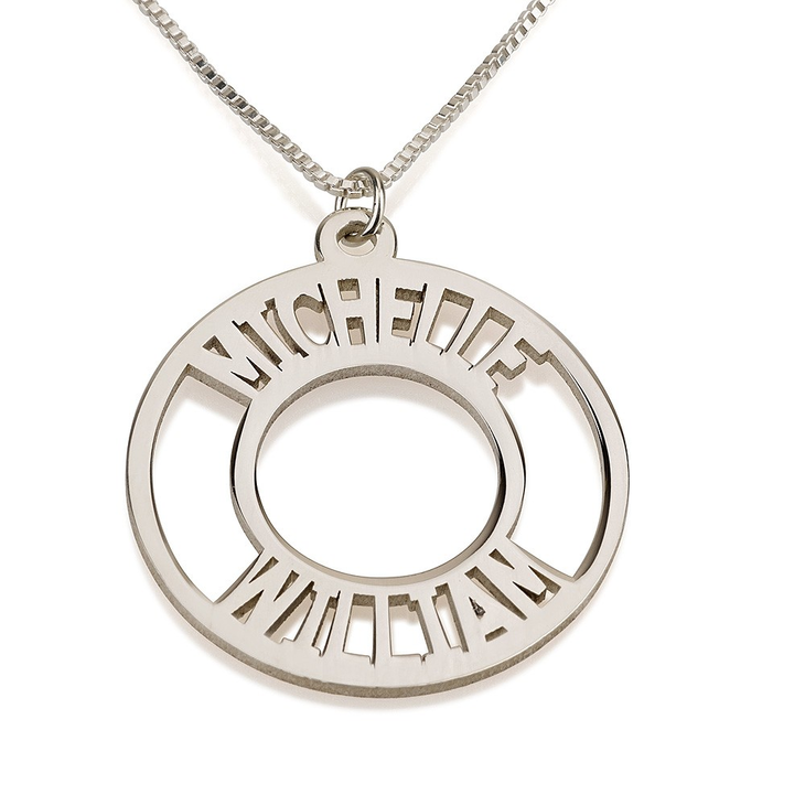 Circle Two Name Necklace