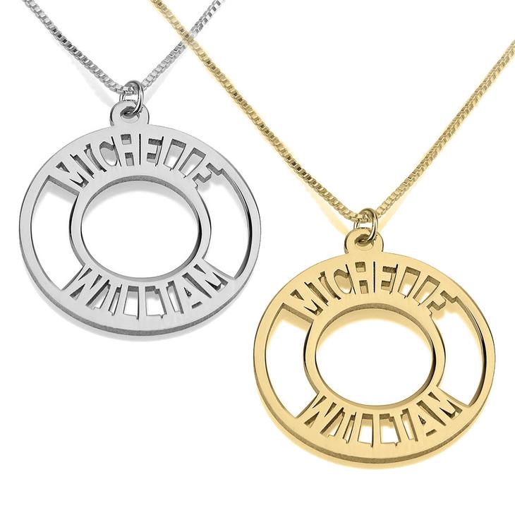 4917b79c3cfa5 Circle Two Name Necklace