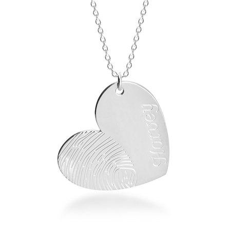 Collar de Corazón con Huella Digital