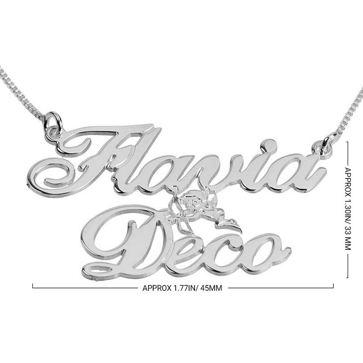 Two Name with Cupid Necklace - Information