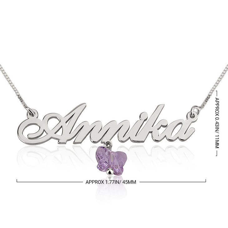 Butterfly Name Necklace - Information
